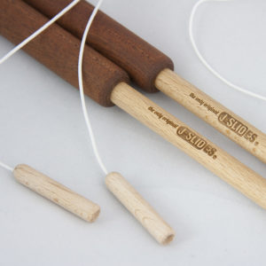 Wooden sticks with aluminium body for the diabolo and chinese yoyo juggling - J-SLIDES