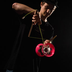 J-SLIDING Diabolo and chinese yoyo team member from Czech Republic. - Michal Zázrivec with premium wooden sticks J-SLIDES.